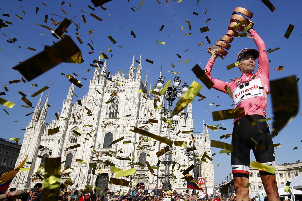 Tom Dumoulin vincitore del Giro d'Italia 2017