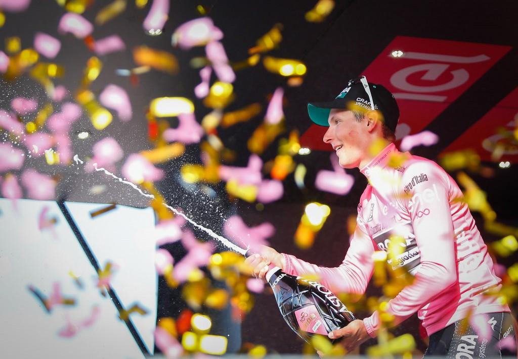 Lukas Postlberger in Maglia Rosa al Giro 2017