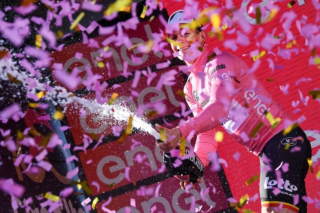Andre Greipel in Maglia Rosa al Giro 2017