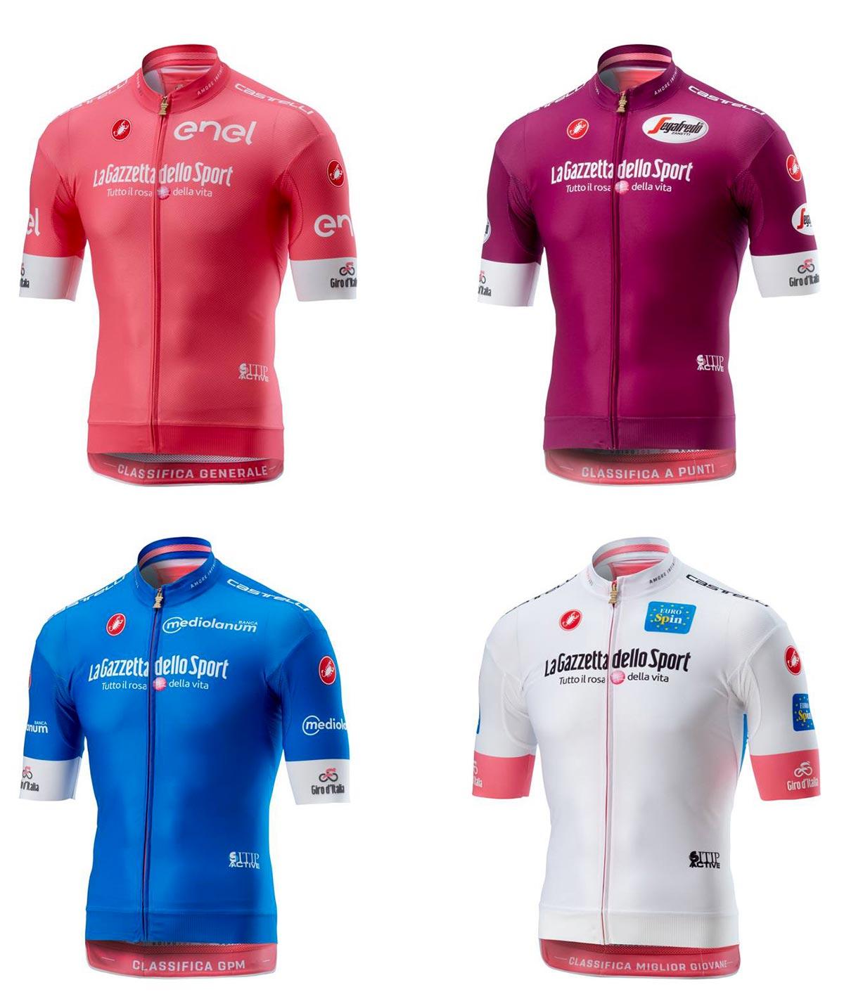 Le maglie del Giro d'Italia 2018