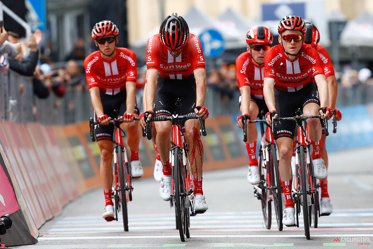 Tom Dumoulin ferito al Giro 2019
