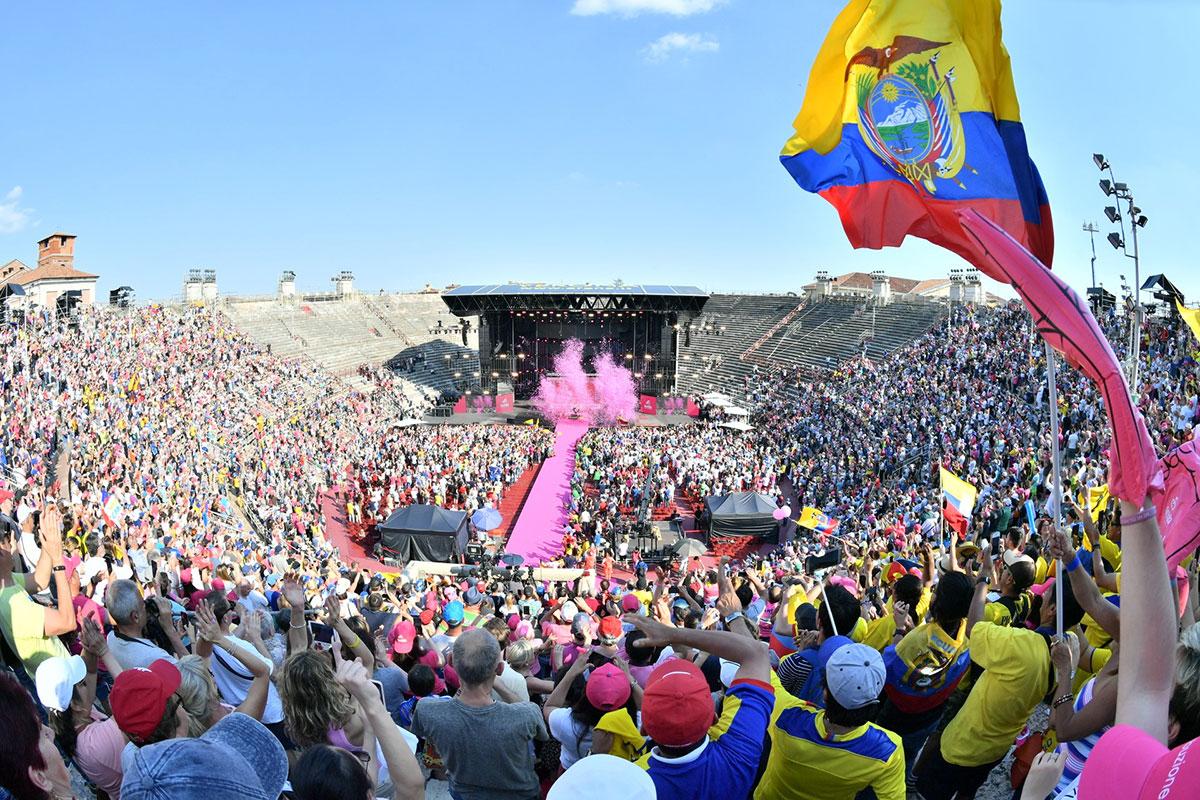 Il Giro 2019 nell'Arena di Verona