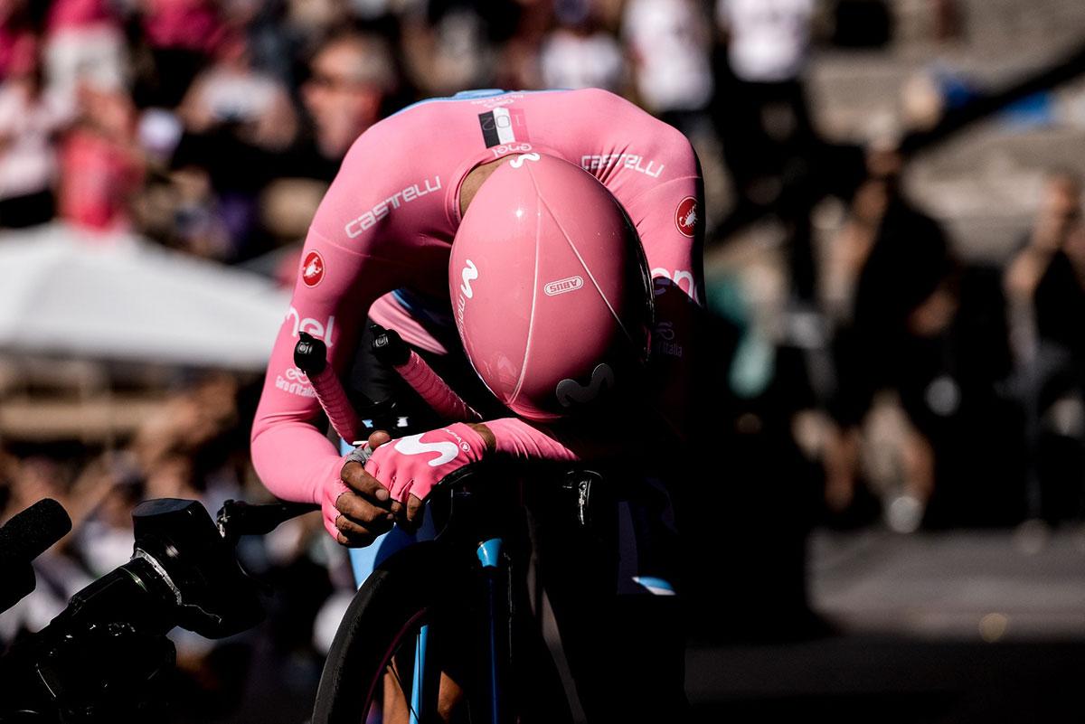 Carapaz nell'Arena di Verona al Giro 2019