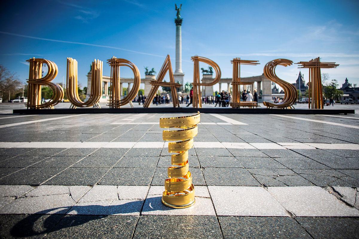 Il Trofeo Senza Fine del Giro d'Italia a Budapest