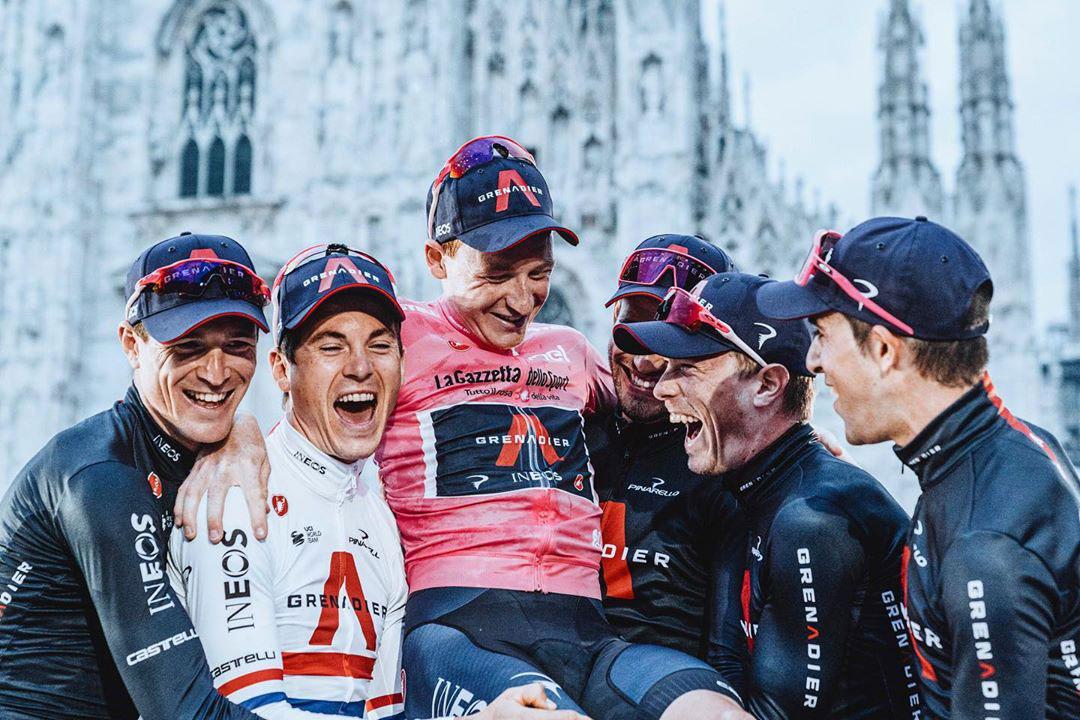 Tao Geoghegan Hart e la INEOS Grenadier al Giro 2020
