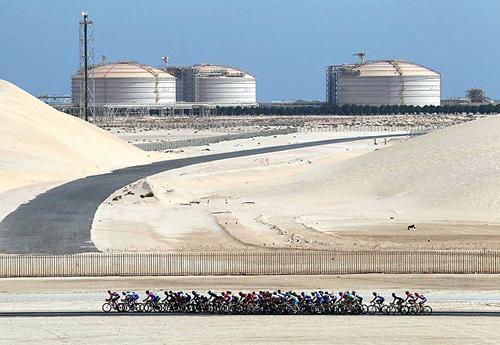 Il passaggio del Giro del Qatar 2011
