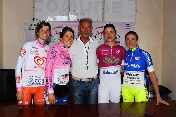 Cauz, Abbott, Vos e Guderzo al Giro Rosa 2013