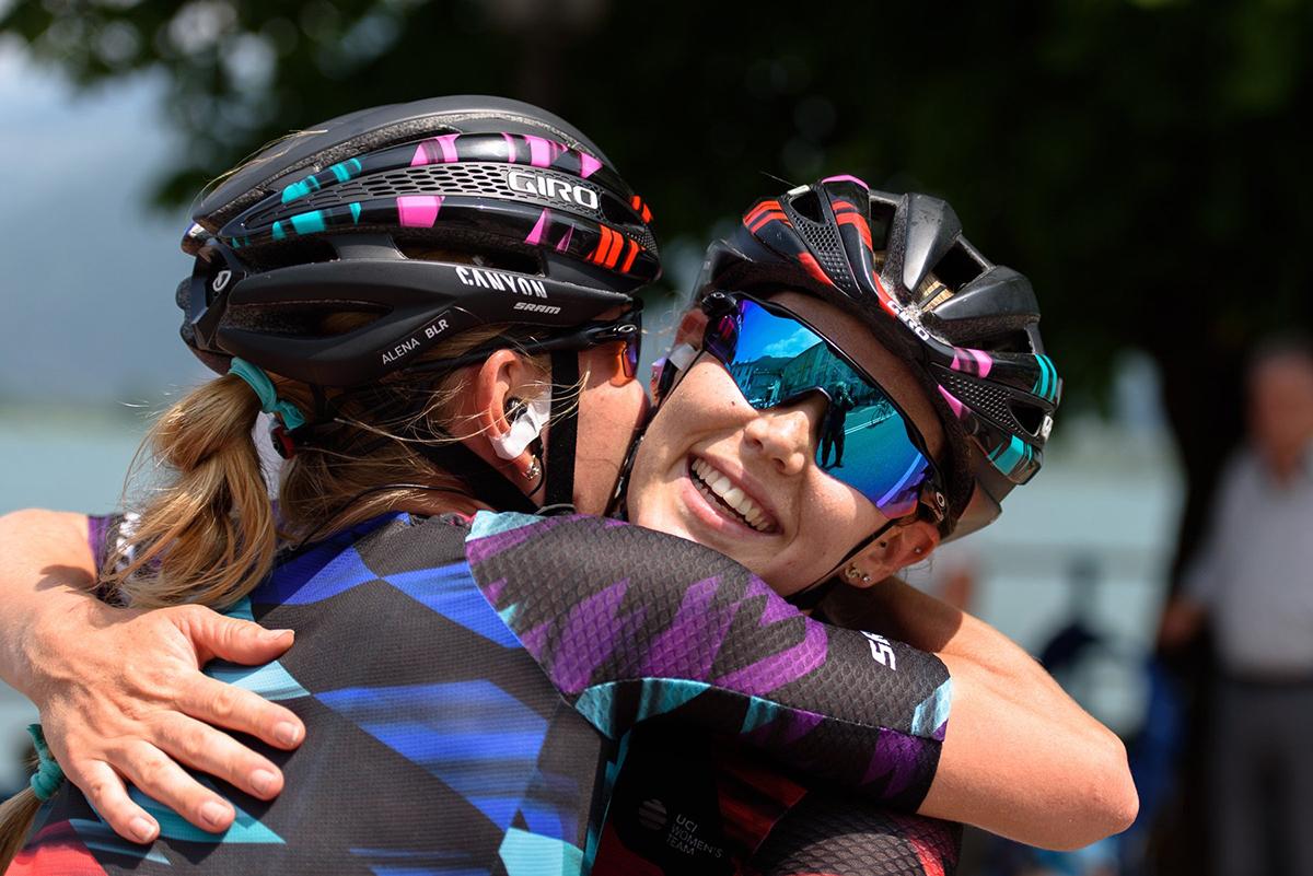 Tiffany Jane e Alena Amialiusik al Giro Rosa 2016