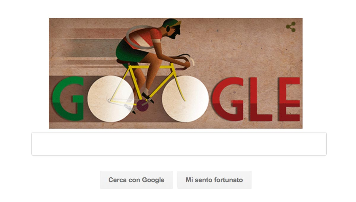 Doodle di Google per il 104esimo anniversario della nascita di Gino Bartali