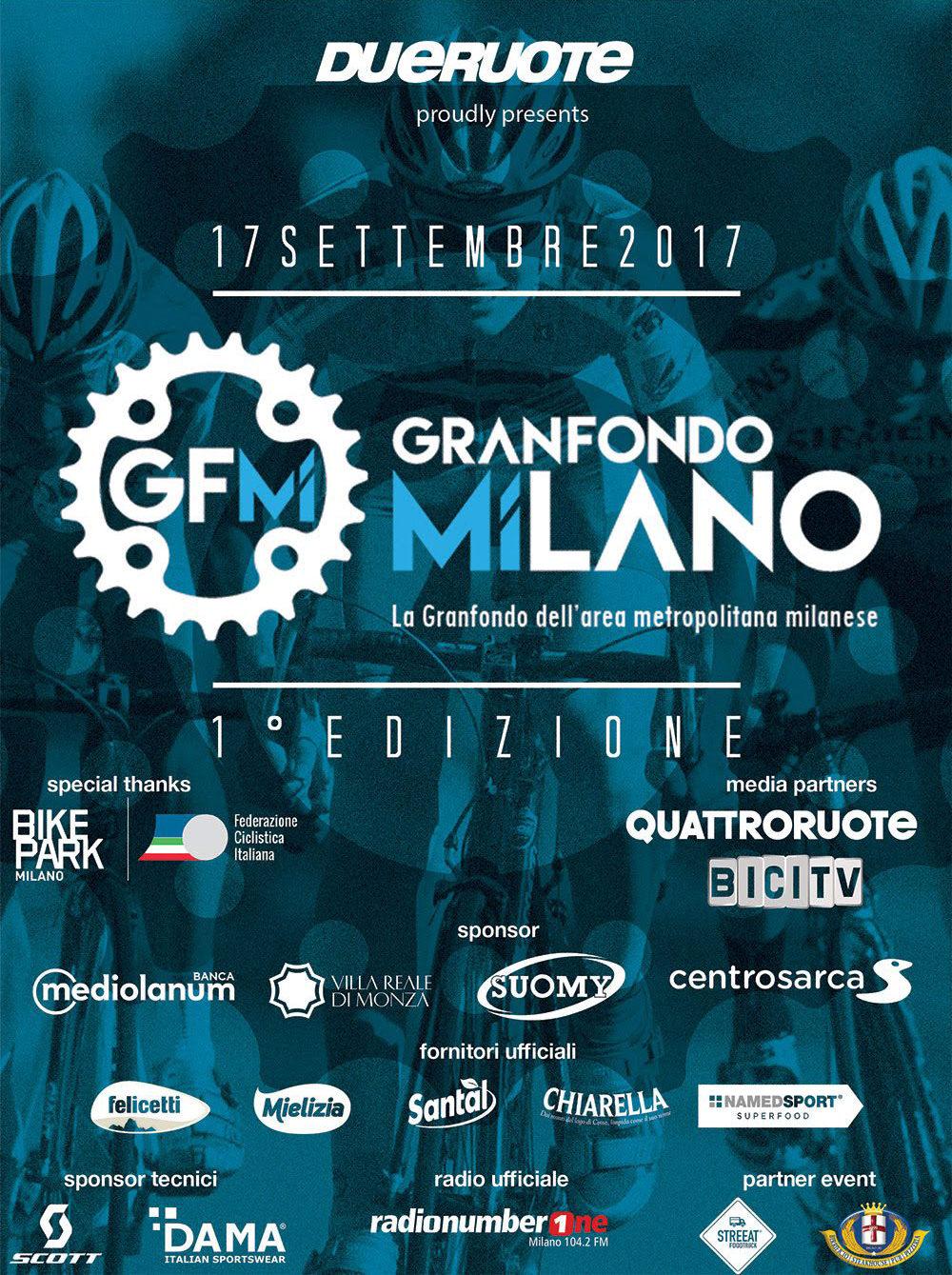 Poster della Granfondo Milano 2017