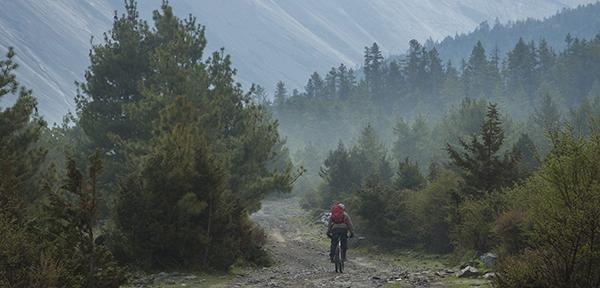 In bici sull'Himalaya