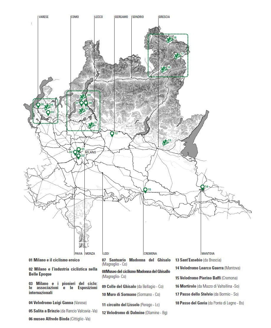 I luoghi del ciclismo in Lombardia