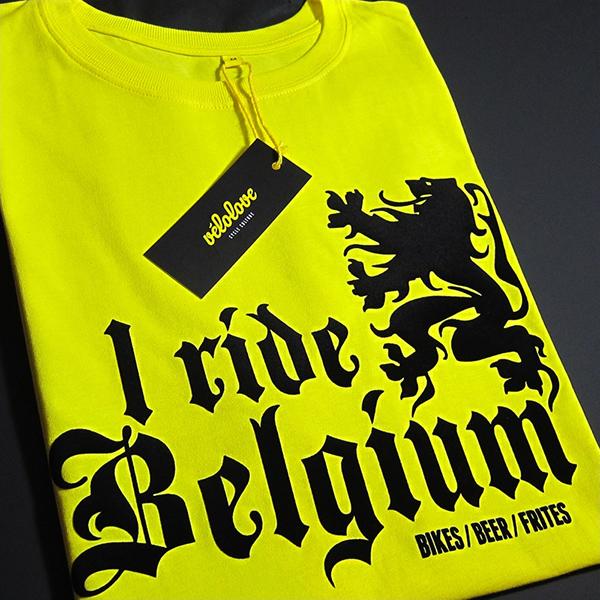 Maglietta I ride Belgium