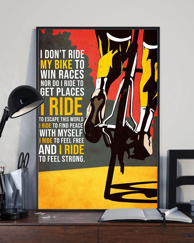 Poster sulle sensazioni che regala andare in bici