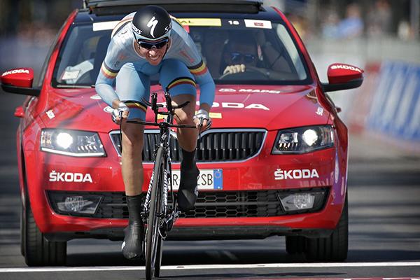 Igor Decraene ai campionati del mondo di Toscana 2013