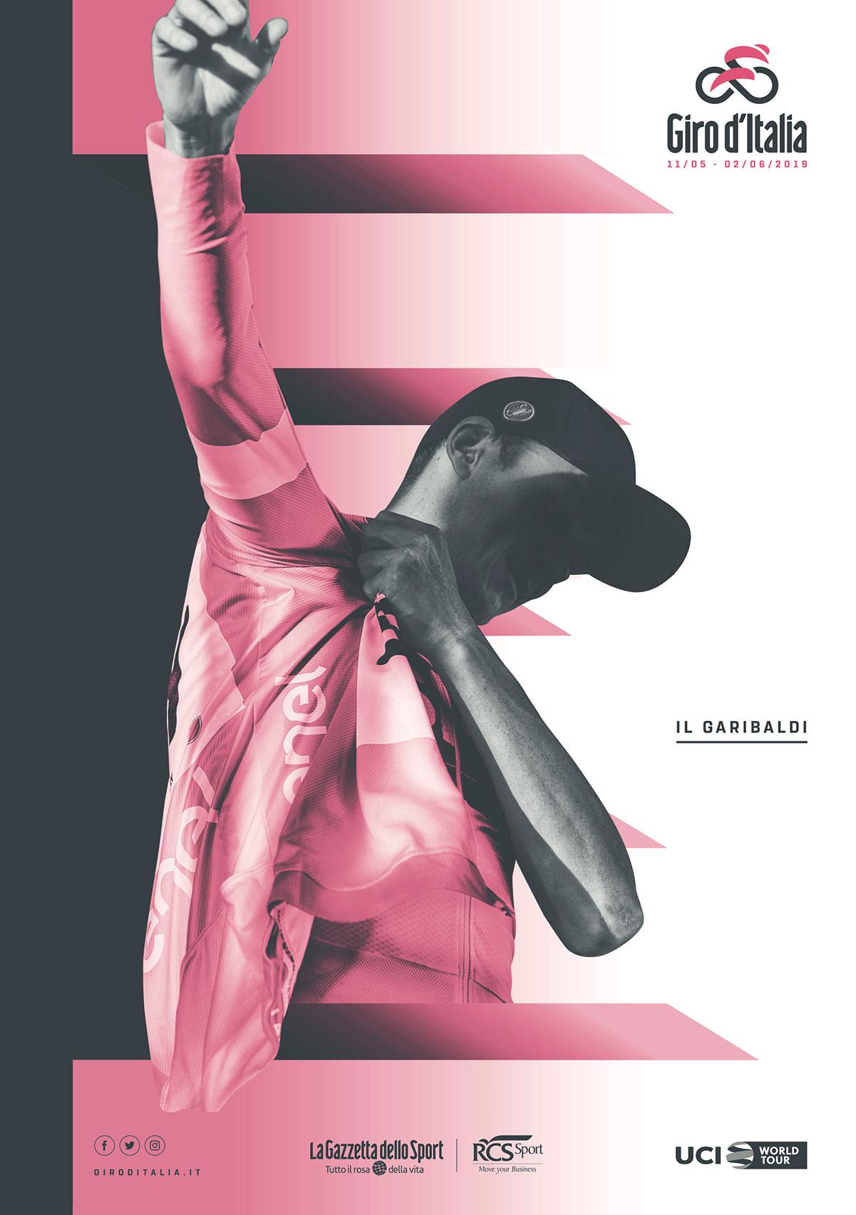 La copertina de Il Garibaldi del Giro d'Italia 2019