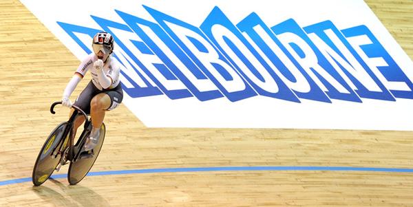 Kristina Vogel ai campionati mondiali su pista
