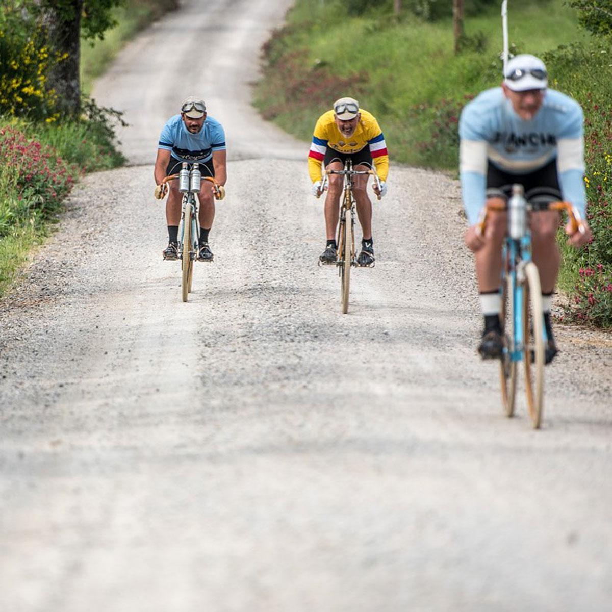 Tre ciclisti all'Eroica