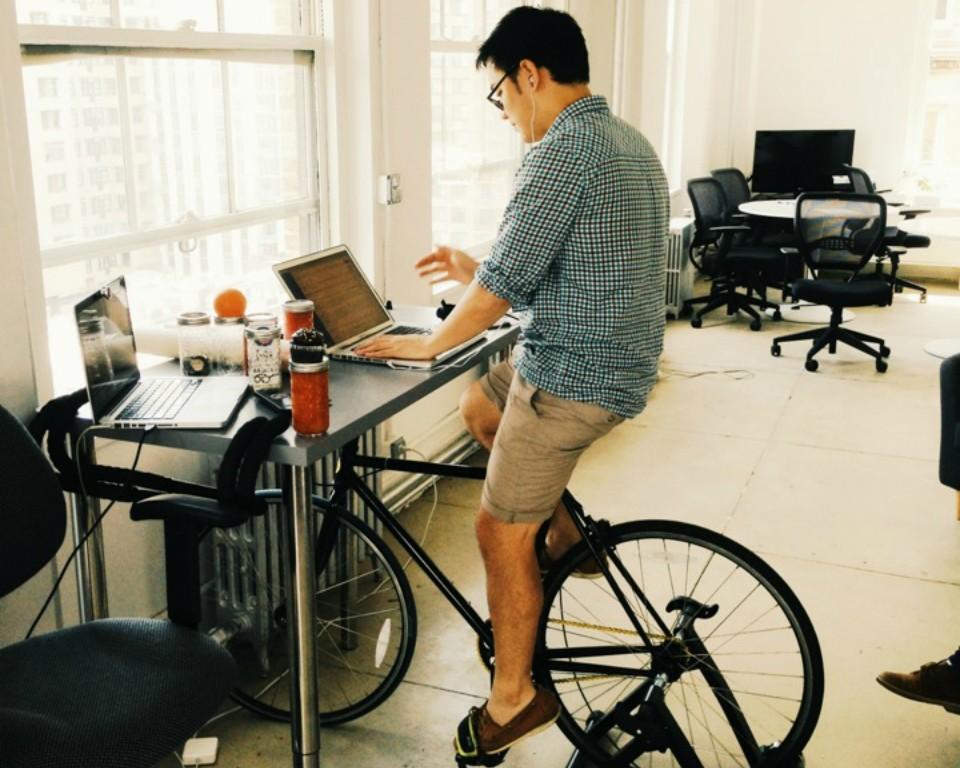 Lavorare pedalando