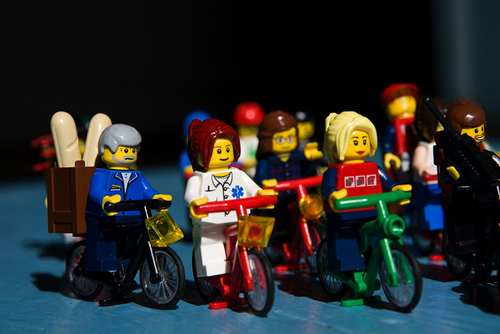 Ciclisti Lego