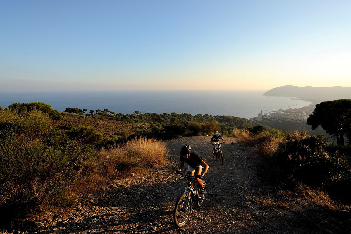 Mountain bike in Liguria