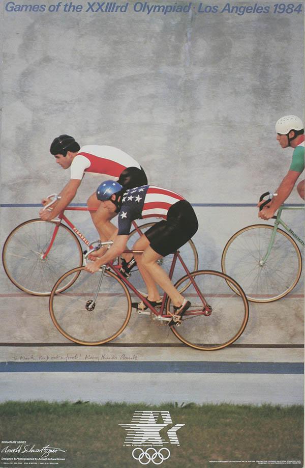 Poster ciclismo su pista di Los Angeles 1984