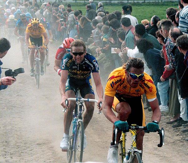 Mario Cippolini alla Parigi-Roubaix
