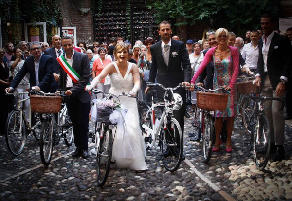 Un matrimonio in bici