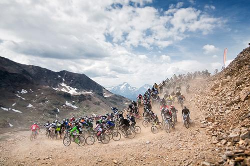 La Megavalanche sull'Alpes d'Huez