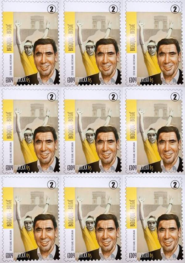Il francobollo di Eddy Mercks