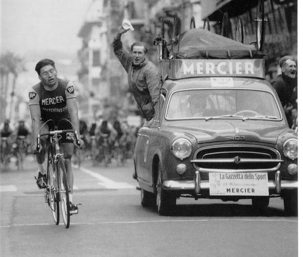 Jean-Claude Annaert alla Milano-Sanremo 1961