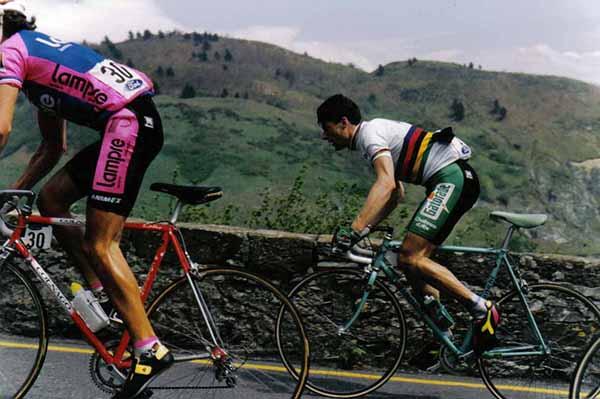 Gianni Bugno alla Milano-Sanremo 1990