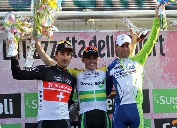 Il podio della Milano-Sanremo 2012