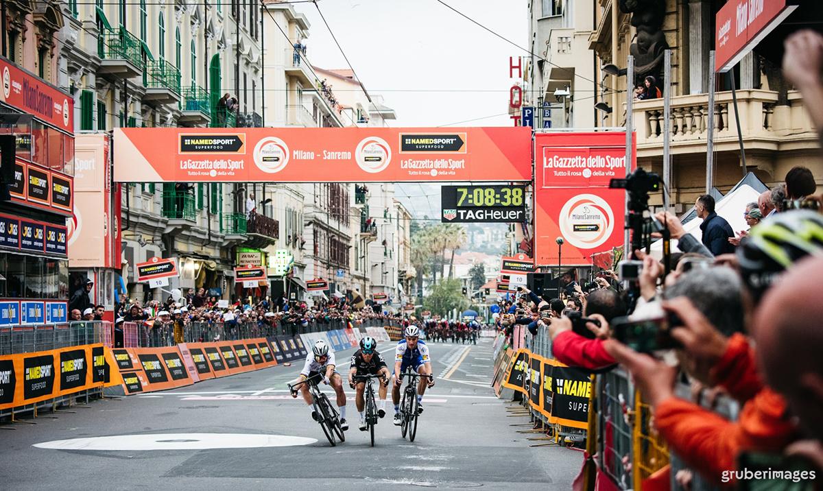Il traguardo della Milano-Sanremo 2017