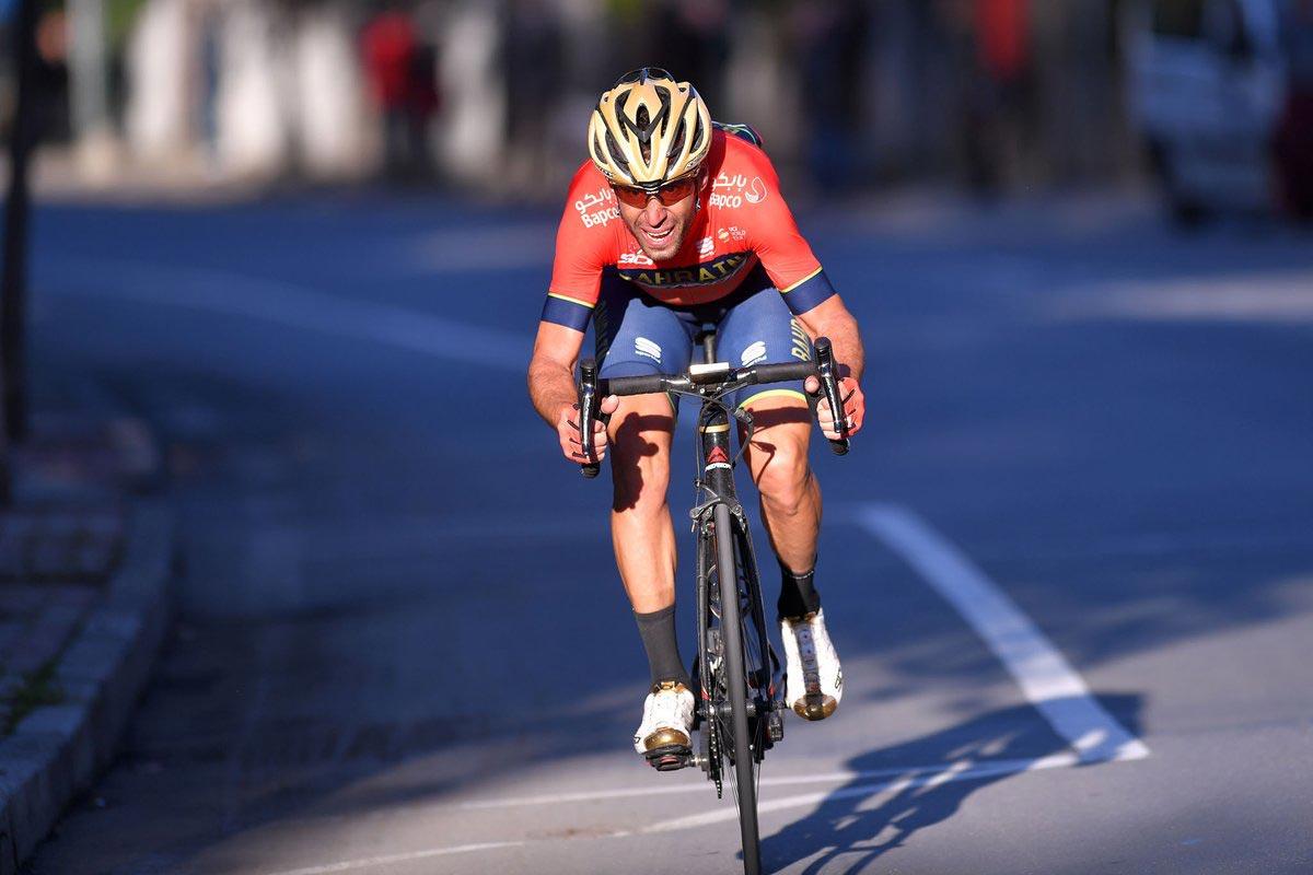 Vincenzo Nibali alla Milano-Sanremo 2018