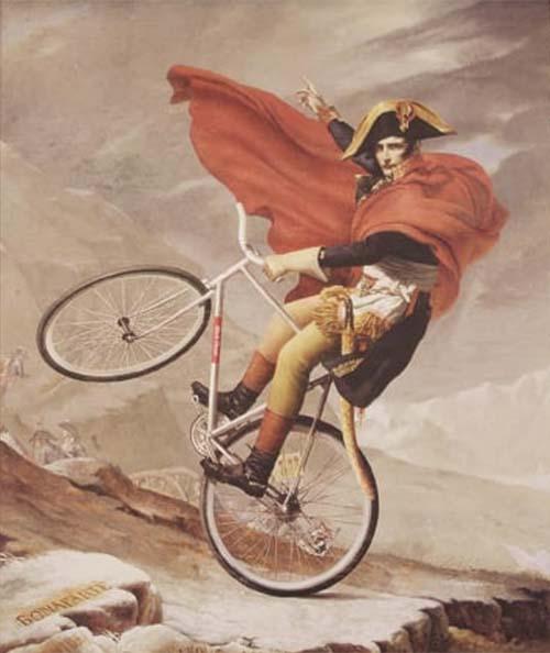 Napoleone in sella a una fixie