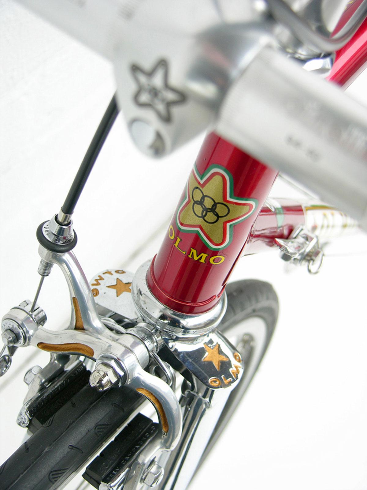 Particolare di una bicicletta Olmo