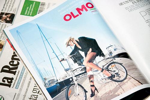 Pubblicità di biciclette Olmo
