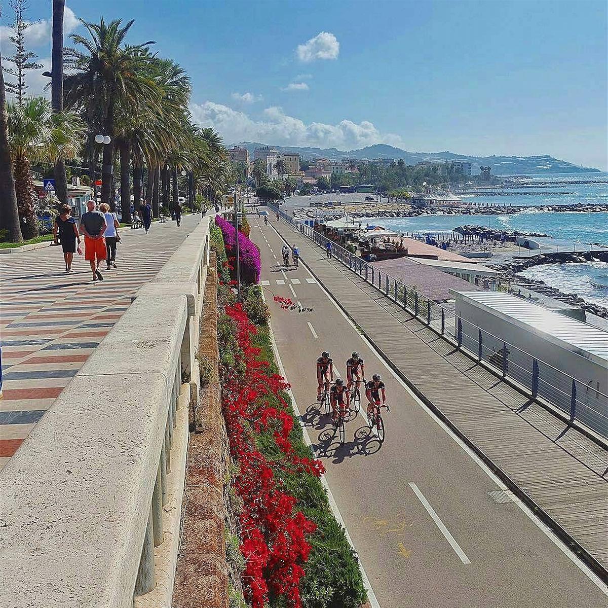 Pista ciclabile del Parco Costiero Riviera dei Fiori