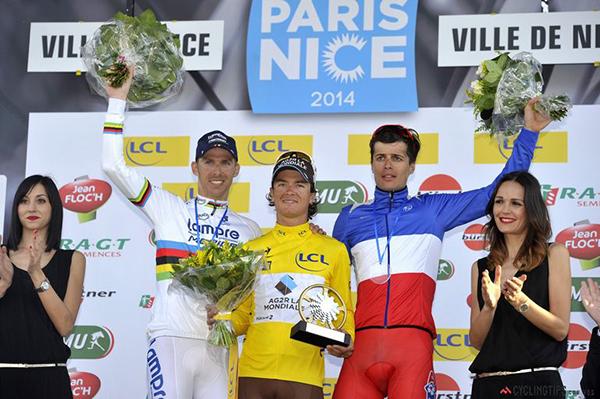 Il podio della Parigi-Nizza 2014