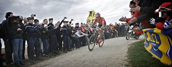 Fabian Cancellara alla Parigi-Roubaix 2010