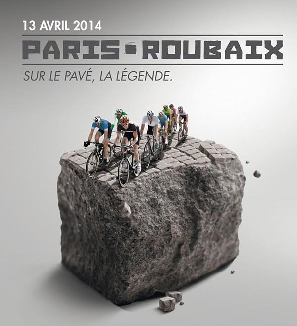 Poster della Parigi-Roubaix 2014
