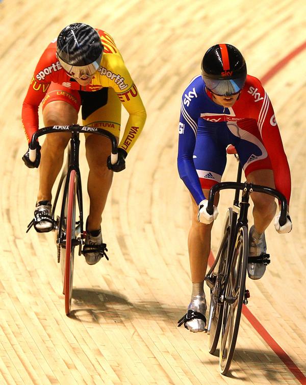 Victoria Pendleton e Simona Krupeckaite ai campionati mondiali di Melbourne