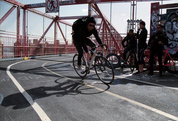 La pista ciclabile sul ponte