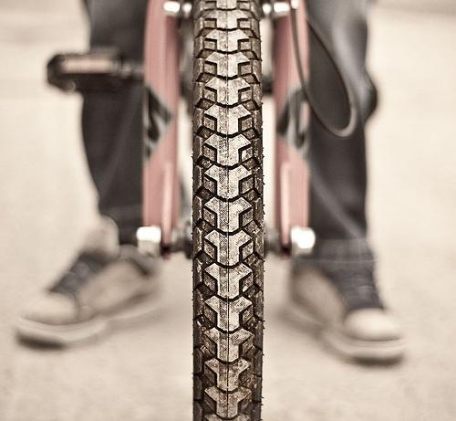 Un pneumatico di una BMX