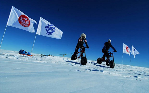 Helen Skelton e Niklas Norman al Polo Sud