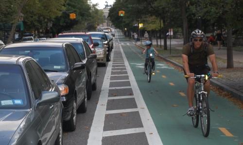 La pista ciclabile newyorkese di Prospect Park West