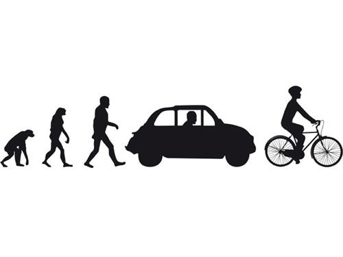 L'evoluzione dalla scimmia alla bici