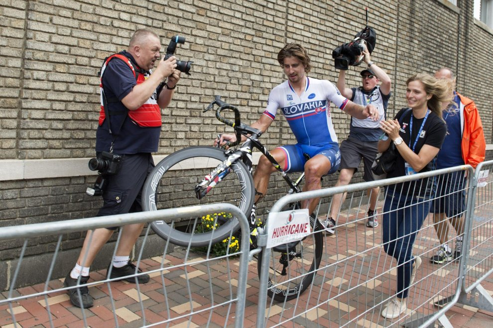 La wheelie di Sagan a Richmond 2015