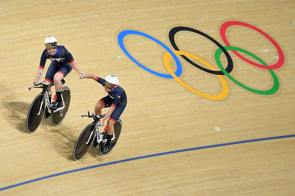 Elinor Barker e Joanna Rowsell-Shand sulla pista di Rio 2016